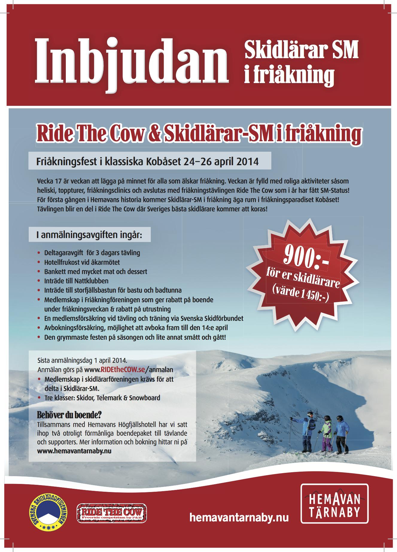 Inbjudan till Friåknings SM 2014